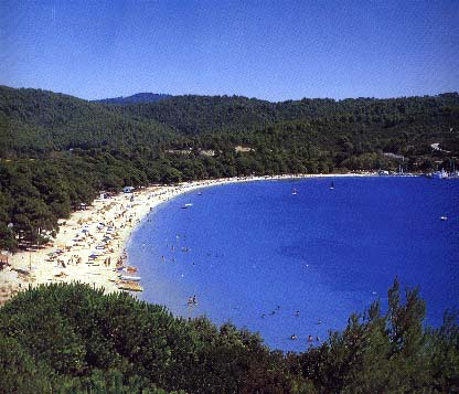 Koukounaries beach -