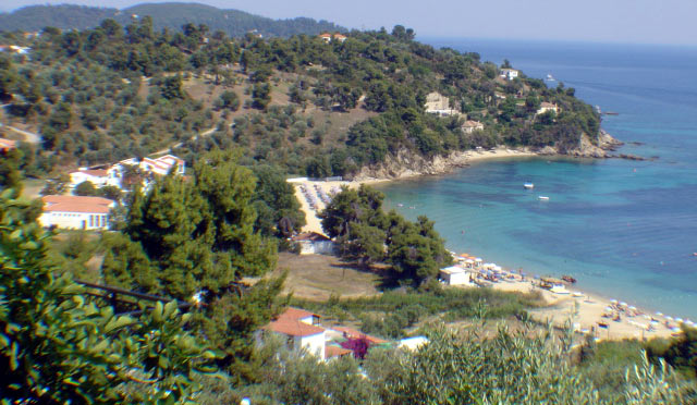 PANORAMIC VIEW - Panoramic view of Troulos beach from above