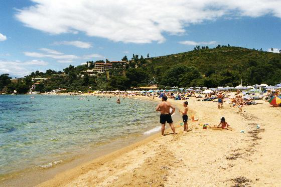 VIEW OF THE BEACH - View of Troulos beach in Skiathos